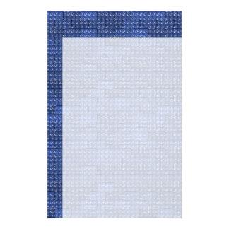 De Bakstenen van de bouwer - Blauw Aangepast Briefpapier