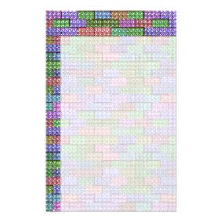 De Bakstenen van de bouwer - Pastelkleur Persoonlijk Briefpapier