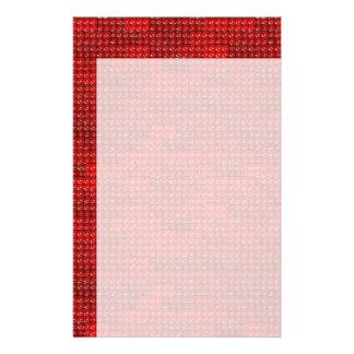De Bakstenen van de bouwer - Rood Briefpapier Papier