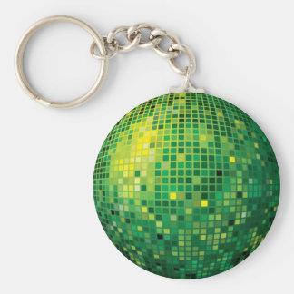 De Bal Groene Keychain van de disco Sleutelhanger