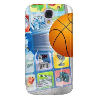 De bal mobiele telefoon van het basketbal