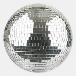 De Bal van de Disco van Mirrorball Ronde Sticker
