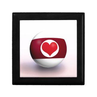 De Bal van de Pool van het hart Decoratiedoosje