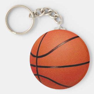 De Bal van het basketbal Basic Ronde Button Sleutelhanger