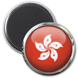 De Bal van het Glas van de Vlag van Hong Kong Magneet