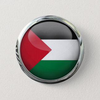 De Bal van het Glas van de Vlag van Palestina Ronde Button 5,7 Cm