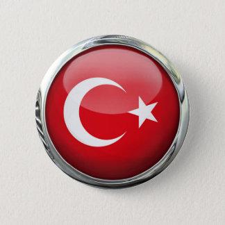 De Bal van het Glas van de Vlag van Turkije Ronde Button 5,7 Cm