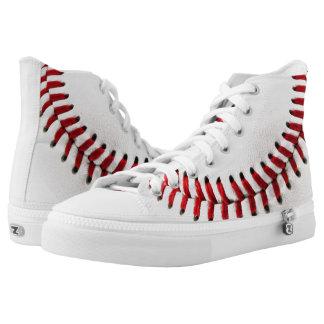 De bal van het honkbal high top schoenen