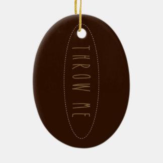 De Bal van het rugby Keramisch Ovaal Ornament