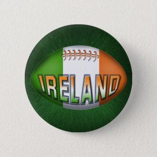De Bal van het Rugby van Ierland Ronde Button 5,7 Cm