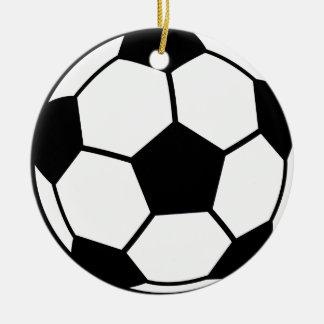 De Bal van het voetbal Rond Keramisch Ornament