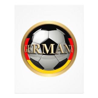De Bal van het Voetbal van Duitsland Flyer 21,6 X 27,9 Cm