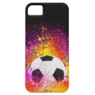 De Bal van het Voetbal van het neon met Zwarte Ach Barely There iPhone 5 Hoesje