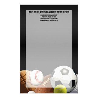 De Ballen van de Sporten van All Star met Briefpapier