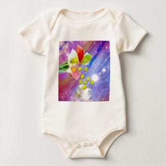 De ballen van het de dalingstennis van lelies om baby shirt