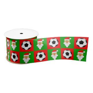 De Ballen van het voetbal & Lint van Kerstmis van Satijnen Lint