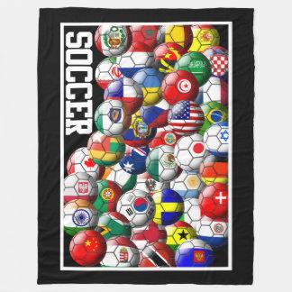 De Ballen van het Voetbal van de wereld Fleece Deken