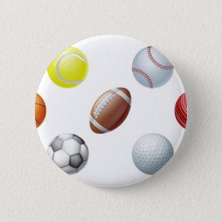 De ballen van sporten ronde button 5,7 cm