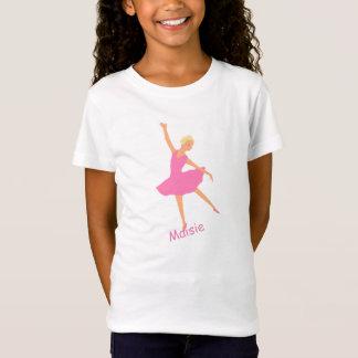 De ballerina in Roze Tutu voegt naam toe T Shirt