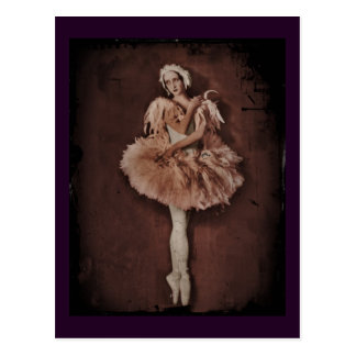 De Ballerina van het Meer van de zwaan Briefkaart