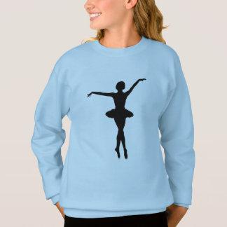 De Ballerina van het silhouet op Pointe Trui