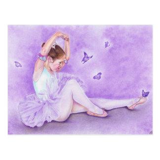 De ballerinaBriefkaart van DE papillon van het Briefkaart