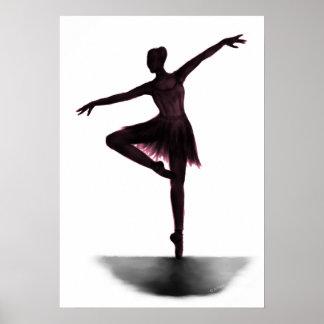 """De ballerinaposter van de """"gunst"""" - roze poster"""