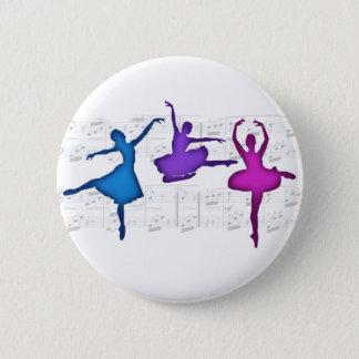 De Ballerina's van de Dag van het ballet Ronde Button 5,7 Cm