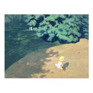 De ballon of de Hoek van een Park met een Kind Briefkaart