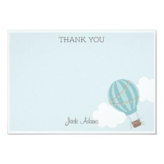 De Ballon van de hete Lucht dankt u kaardt 8,9x12,7 Uitnodiging Kaart