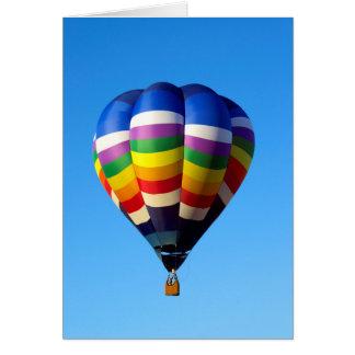 De Ballon van de hete Lucht Wenskaart