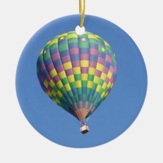 De Ballon van de hete Lucht Rond Keramisch Ornament