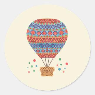 De Ballon van de hete Lucht Ronde Sticker