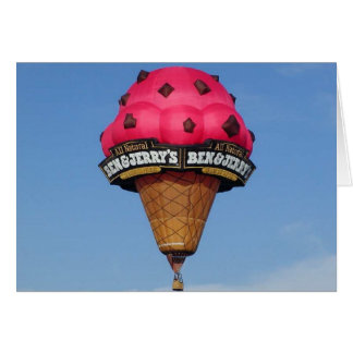 De Ballon van de Hete Lucht van de Kegel van het r Wenskaart