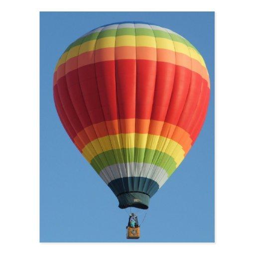De Ballon van de Hete lucht van de regenboog Wens Kaart