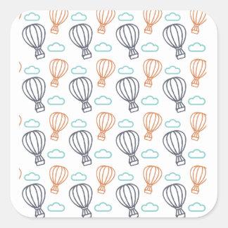 De Ballon van de hete Lucht Vierkante Sticker