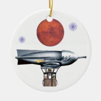 De Ballon van de raket Rond Keramisch Ornament