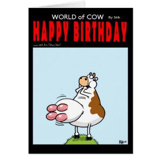 De Ballon van de Verjaardag van de koe Briefkaarten 0