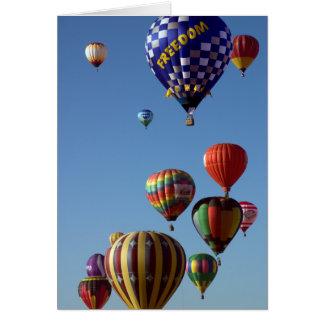 De Ballon van de vrijheid - Wenskaart