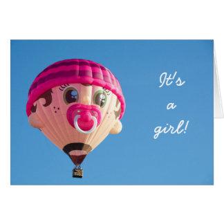 De Ballon van het Baby van het meisje Briefkaarten 0