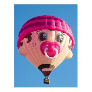 De Ballon van het Meisje van het baby Briefkaart