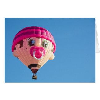 De Ballon van het Meisje van het baby Briefkaarten 0