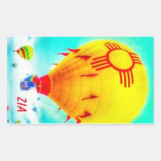 De ballon van Zia Rechthoekige Sticker