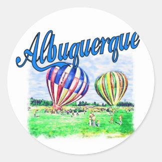 De Ballons van Albuquerque Ronde Sticker