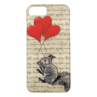 De ballons van de eekhoorn en van het hart iPhone 7 hoesje