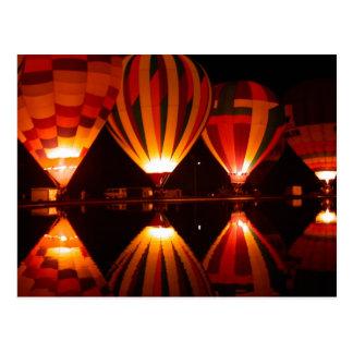 De Ballons van de hete Lucht bij het Briefkaart Wens Kaart