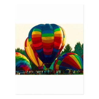 De Ballons van de hete Lucht Briefkaart