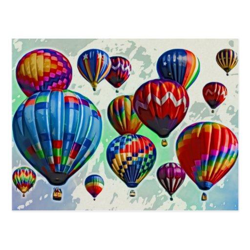 De Ballons van de hete Lucht Wens Kaarten