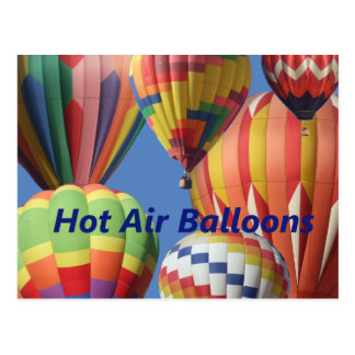 De Ballons van de hete Lucht in Heldere Kleuren! Briefkaart