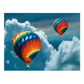 De Ballons van de hete Lucht met het Donkere Briefkaart
